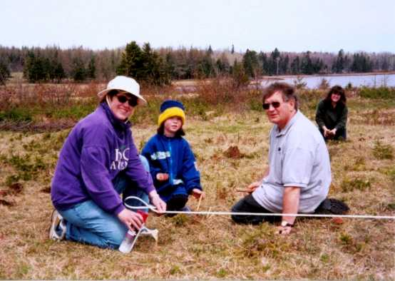 Constructing the Father's Heart Labyrinth in May 2001